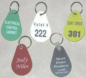 Custom engraved TearDrop Key Tags