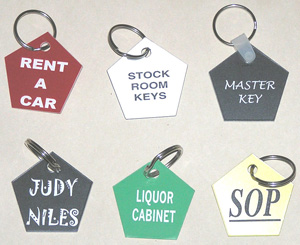 Pentagon Key Tags