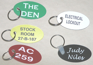 Oval Key Tags