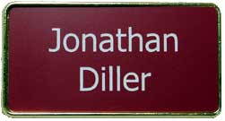 Metal frame Name badges 001
