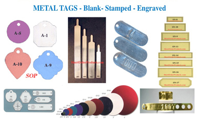 Blank-and-stamped-metal-tags
