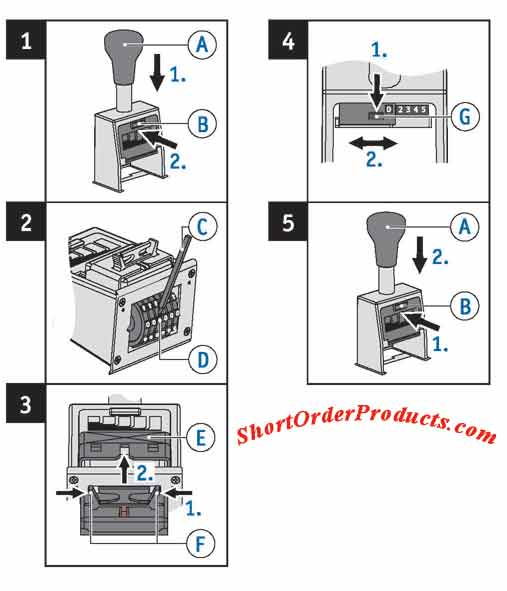 bates numbering machine instructions